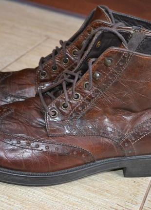Geox  43р ботинки кожаные оксфорды.