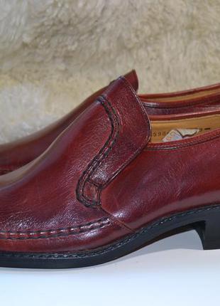 Salamander 42 ботинки кожаные. туфли мокасины