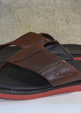 Clarks 42.5р шлепанцы вьетнамки кожаные. оригинал