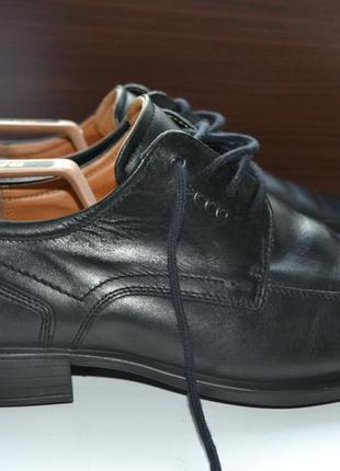 Ecco 44р ботинки демисезон мужские туфли кожаные.