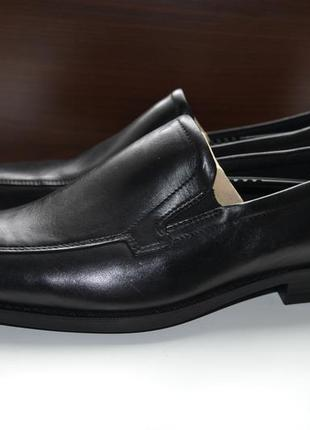 Ecco 43р туфли лофферы кожаные оригинал. сток.