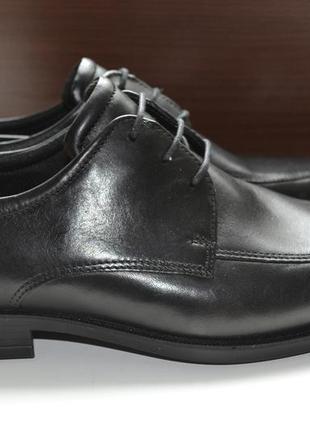 Ecco 41р туфли лоферы кожаные оригинал. сток.