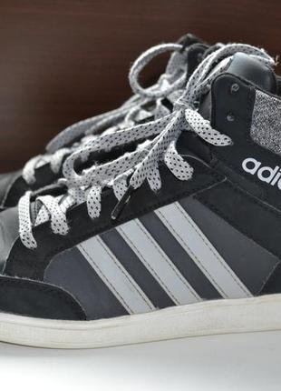 Adidas 39- 40р кроссовки оригинал сникерсы хайтопы. 2017г.в