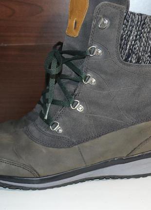 Salomon 38-39р кожаные зимние сапоги ботинки. оригинал