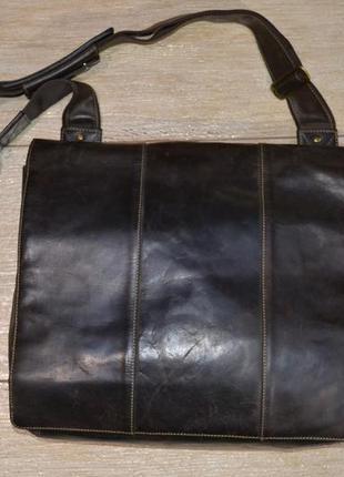 Visconti harvard collection сумка большая на плечё мессенджер ...