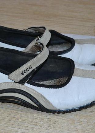 Ecco light 38р балетки туфли кожаные оригинал.