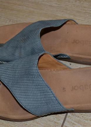 Gabor сандалии шлепанцы босоножки 41р. кожаные