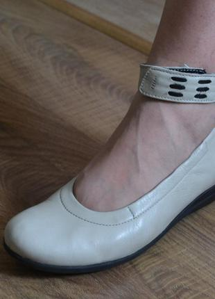 Wolky балетки туфли летние кожаные 37р