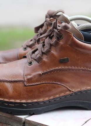 Кожаные ботинки на утеплителе rieker 45-46
