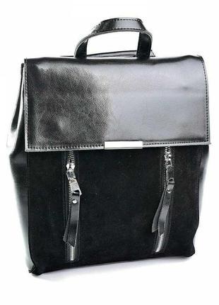 Кожаный рюкзак женский жіночий шкіряний сумка кожаная женская