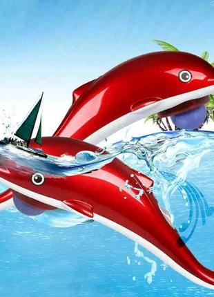 """Инфракрасный ручной массажер """"Дельфин"""" большой 40 см, массажер дл"""