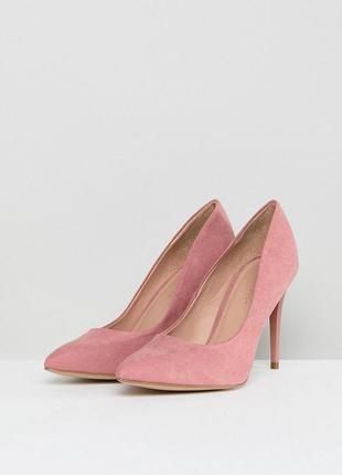 Нежные пудровые туфли лодочки new look
