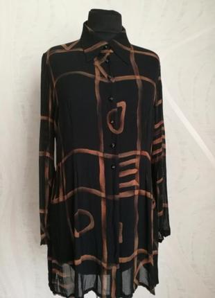 Стильная шифоновая (вискозная) блуза рубашка