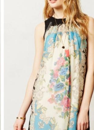 Легкое воздушное шелковое платье-шифт-сарафан moulinette soeurs