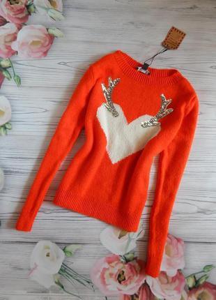 🌿чудесный, красивый свитер в насыщенном цвете от primark. разм...