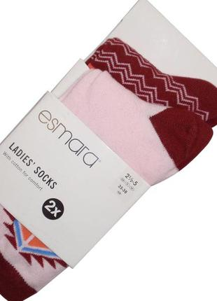 Набор носков 2 пары носки хлопковые бренд esmara германия р. 3...