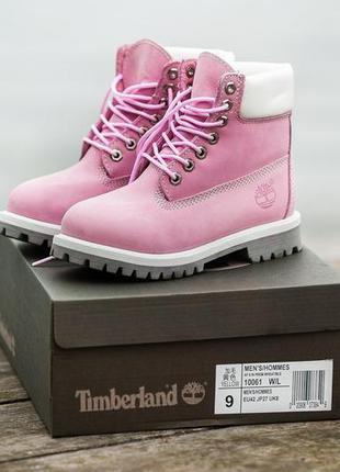 🌺timberland pink🌺зимние ботинки тимберленд с мехом, женские ро...