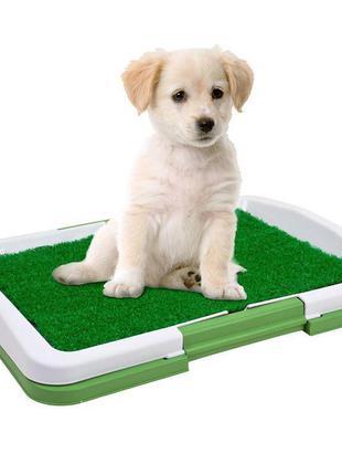 Туалет для собак Puppy Potty Pad 47х34х6 лоток для щенков горш...
