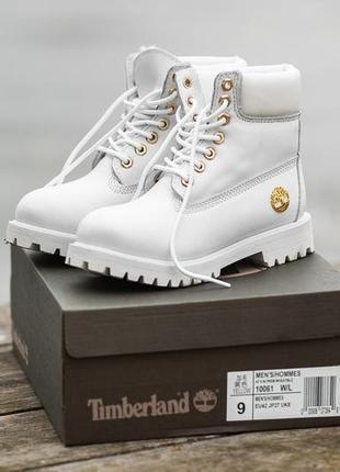 Timberland winter white, женские ботинки тимберленд с мехом, з...