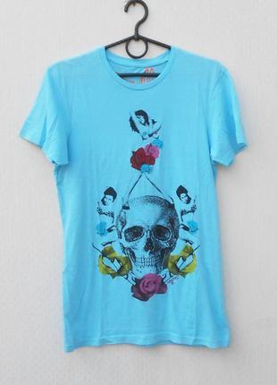 Хлопковая футболка с рисунком с черепом 🌿