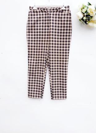 Красивые штаны брюки повседневные штаны в клетку с карманами