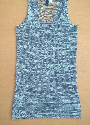 Вязаное меланжевое платье майка туника h&m