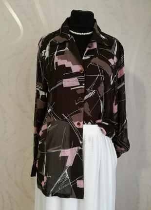 Отличная итальянская шифоновая вискозная блуза рубашка afibel