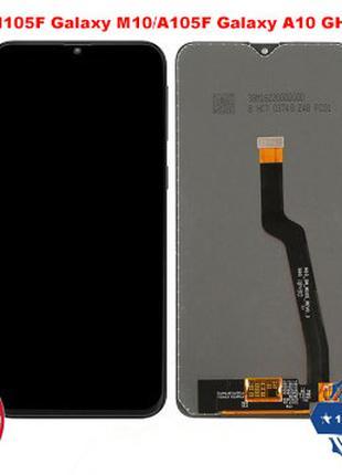 Модуль Samsung A105F Galaxy A10 черный оригинал 100% GH82-18685A