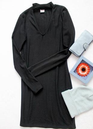 Платье водолазка по фигуре с вырезом от gina tricot, размер l