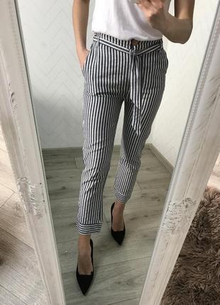 Льняные брюки xs s