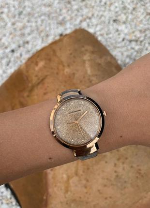 Женские красивые блестящие наручные часы aidiman черные