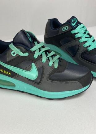 Женские кроссовки nike air max синие бирюзовые