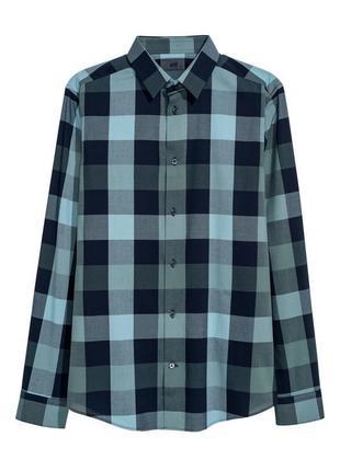Клечатая рубашка h&m premium quality , slim fit !