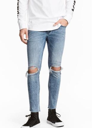 Супер скинни джинсы h&m , cropped !