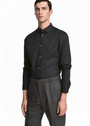 Рубашка h&m premium quality из хлопка премиум !