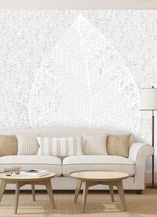 Рельефное дизайнерские панно 3D Leaf structure w/o paint