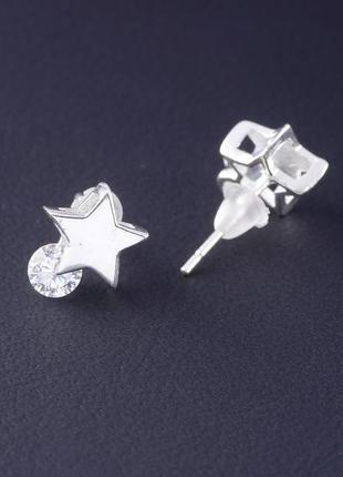 Серьги серебро(925) фианит 0523700
