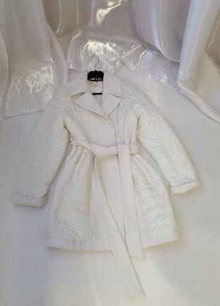 ⛔ куртка пальто стёганая плащёвка с кашемировыми вставками и п...