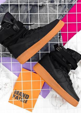 Nike special field air force 1 black beige, мужские кроссовки ...