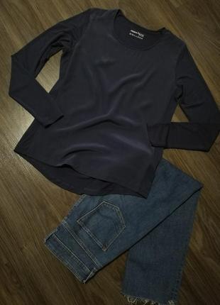 Лонгслив блуза футболка длинный рукав шелк+вискоза