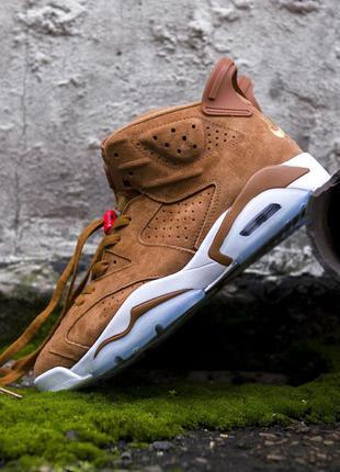 Nike air jordan 6 retro brown, мужские кроссовки найк джордан,...