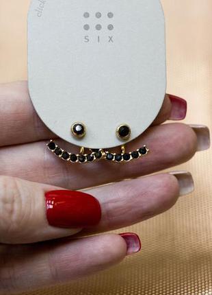 Джекеты серьги сережки камни стразы золото бижутерия украшение...