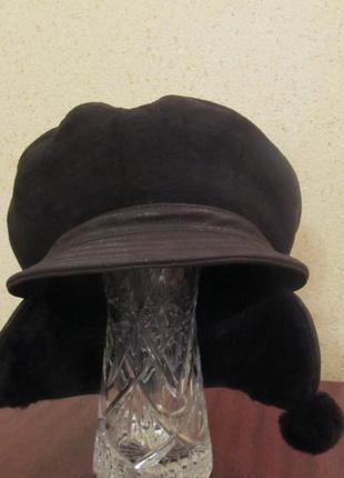 Прикольная зимняя шапка, размер 56