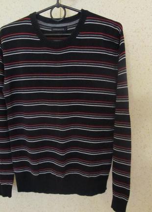 Стильный свитер на мальчика-подростка, на 13 лет, на рост 158 см