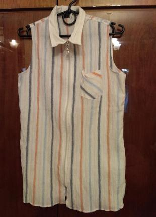 Легкая летняя рубашка блуза, размер xxl.
