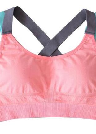 Топ женский спортивный yomay розовый размер L