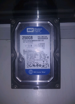 WD blue, жёсткий диск 250гб/gb