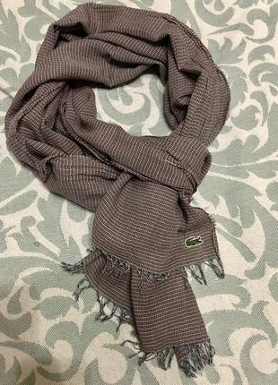 Лёгкий длинный шарф lacoste
