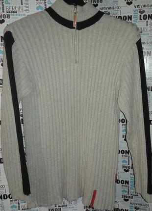 Толстый тёплый шерстяной мужской свитер р 50 52