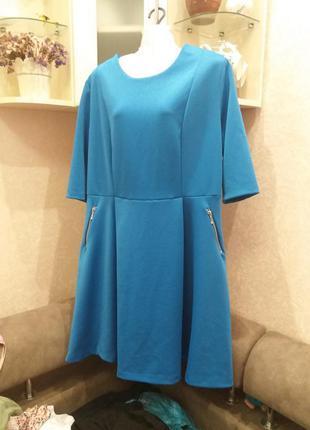 Яркое стильное платье--plus-size--16\18h body frock